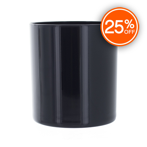 Black Straight Sided Tumbler Jar (Import)