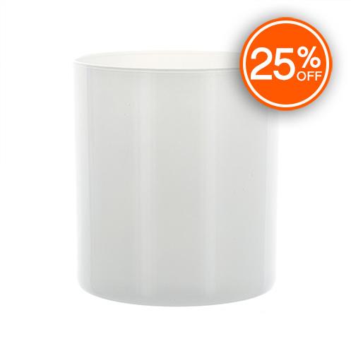 White Straight Sided Tumbler Jar Import