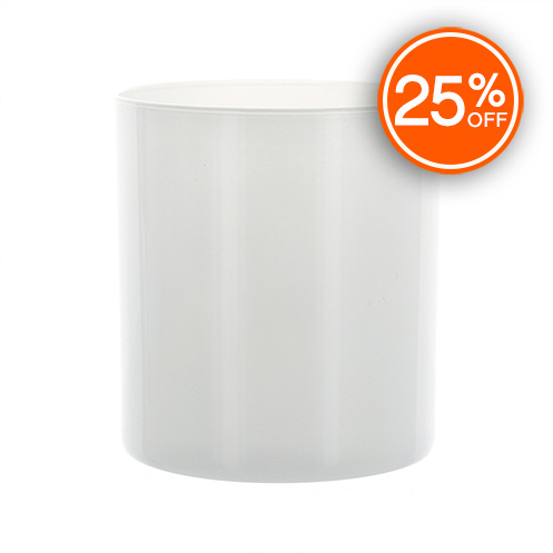 White Straight Sided Tumbler Jar (Import)