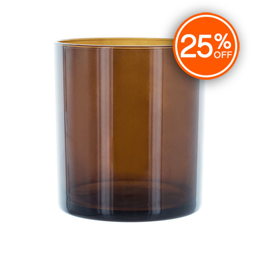 Amber Straight Sided Tumbler Jar (Import)