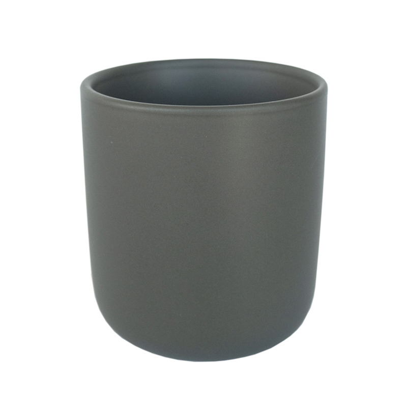 Charcoal Color Nordic Ceramic Tumbler Container