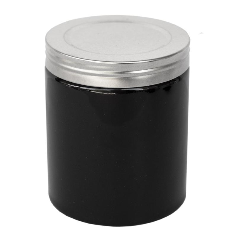Farmhouse Ceramic Jar with White Faux Thread Lid