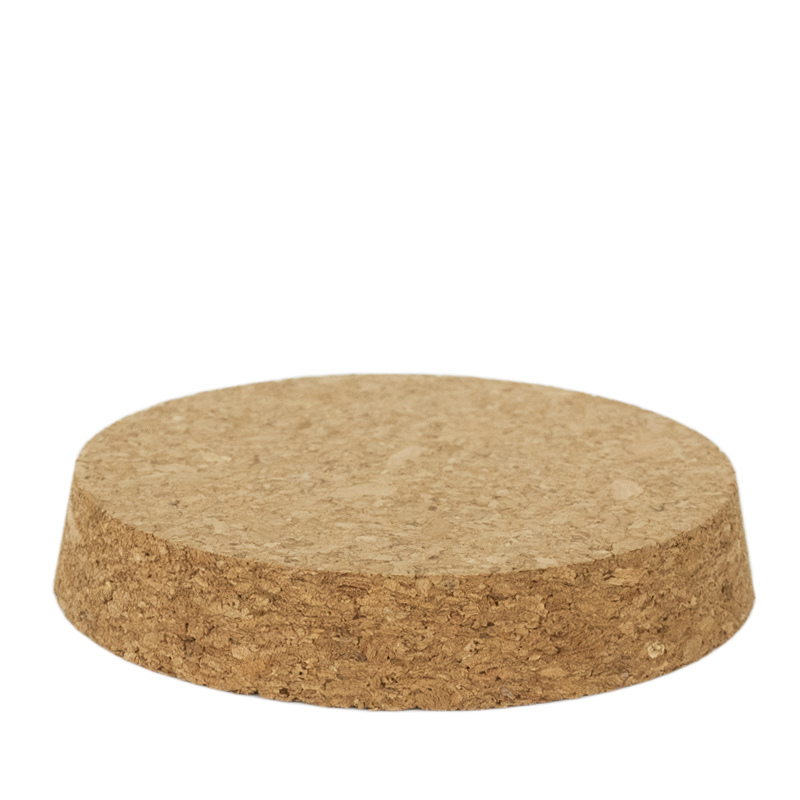 Tapered cork lid