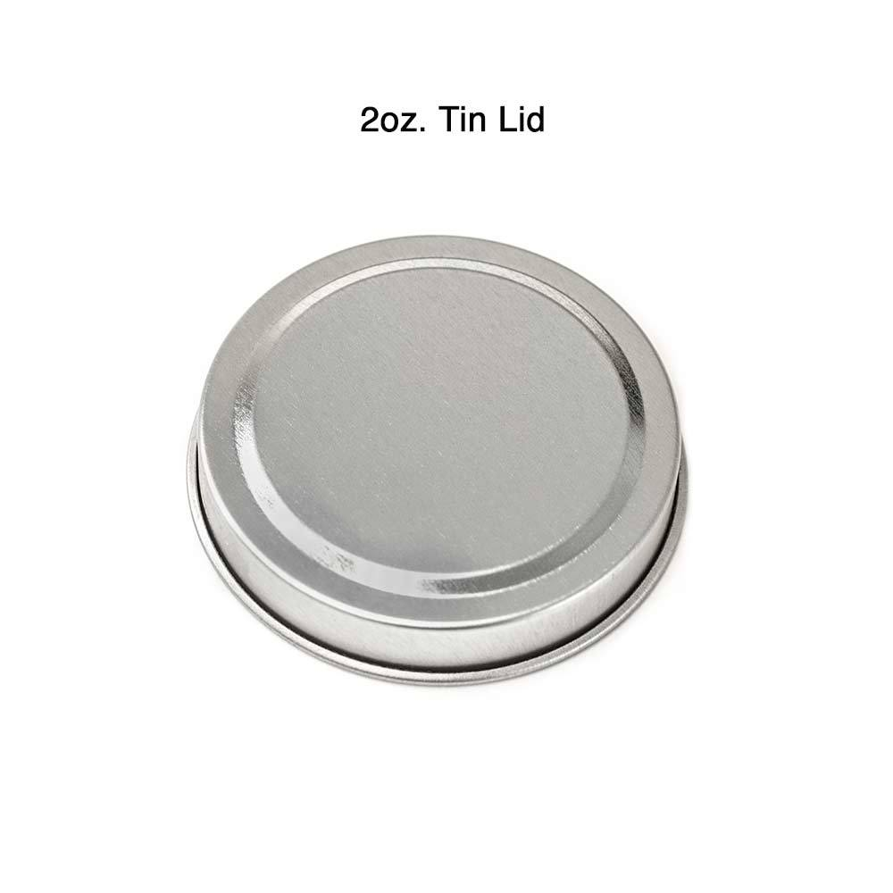 2 oz. Candle Tin Lid with measurements