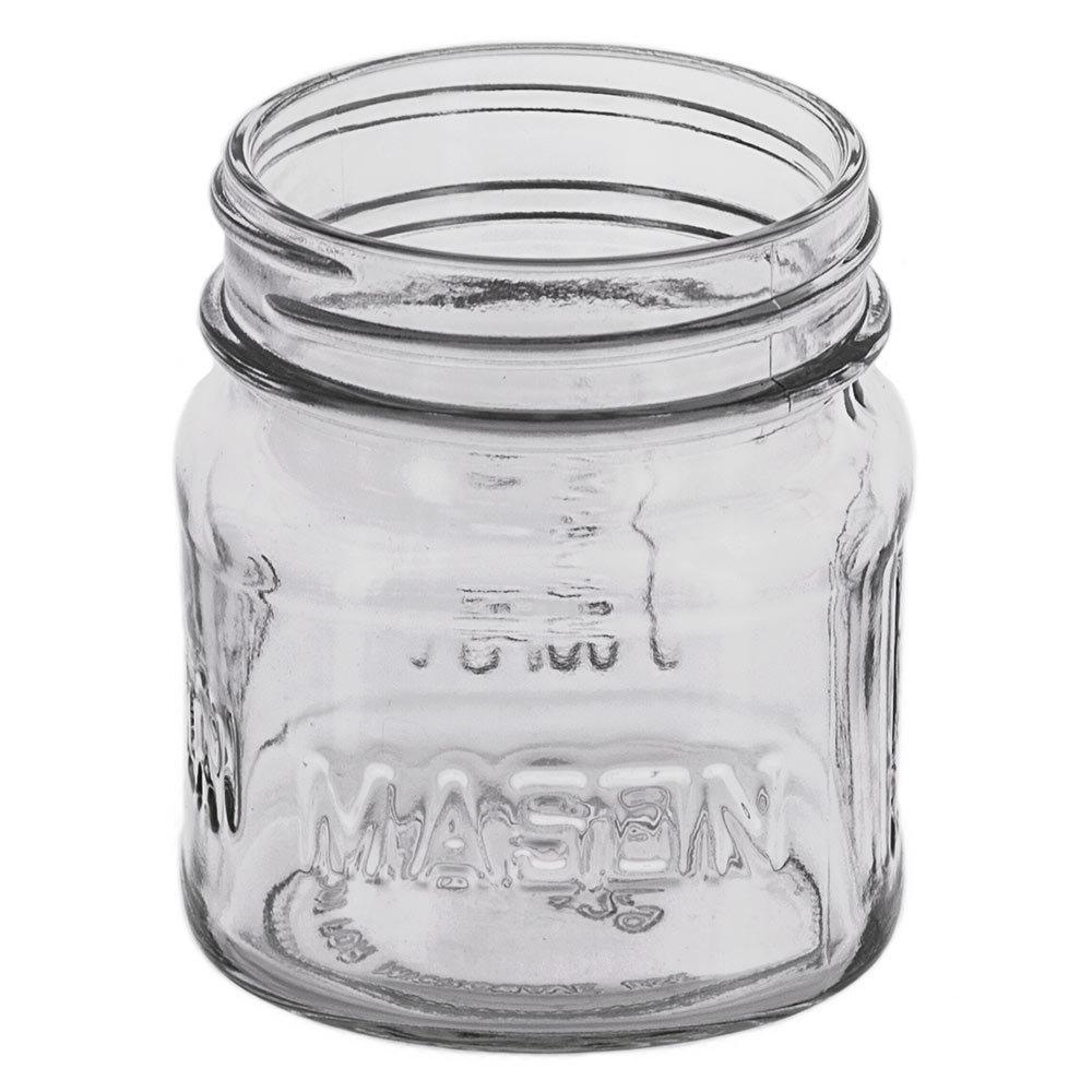 treads on the neck of the 8 oz. mason jar