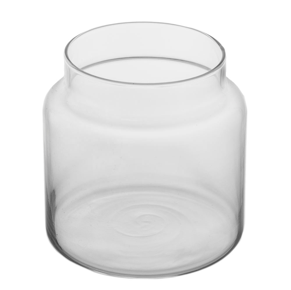 Top angle view of the 16 oz. apothecary jar