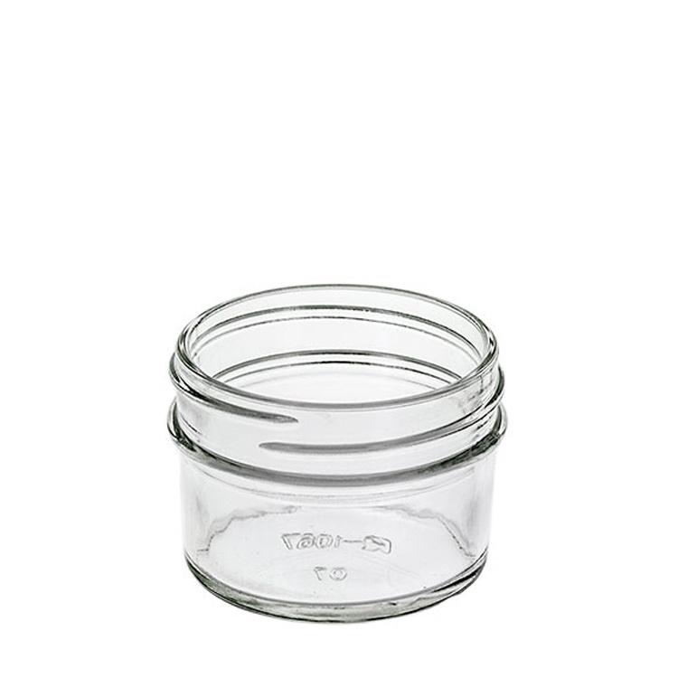 Inside of the 4 oz. jelly jar