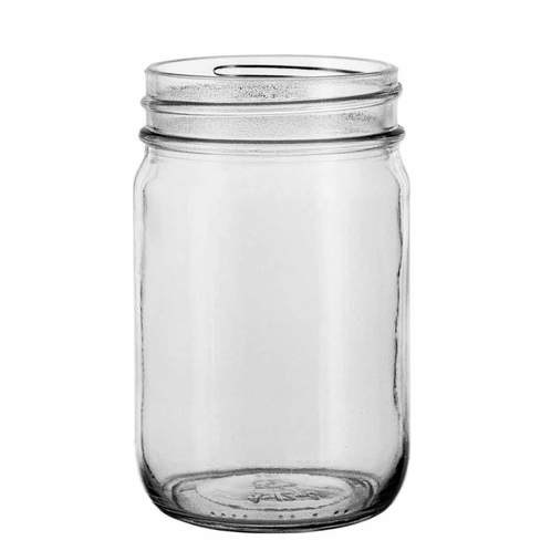 16oz canning jar clear front 1000px