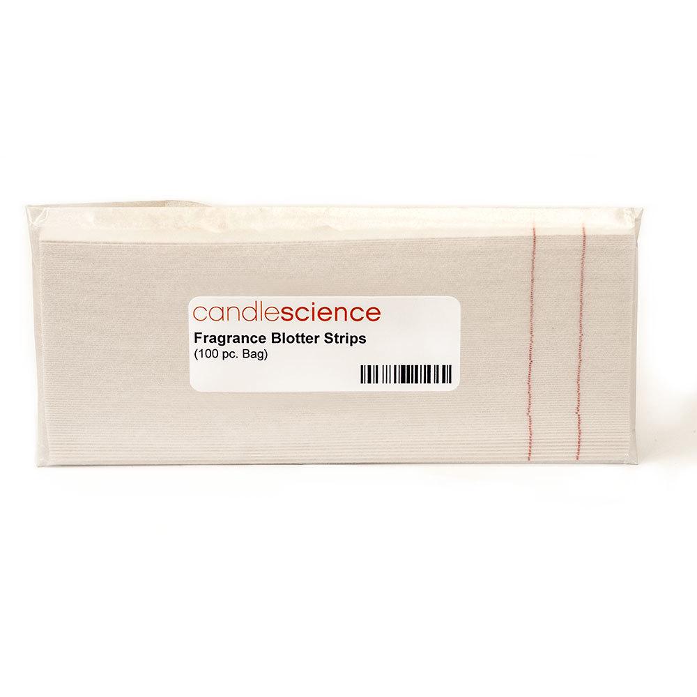 Fragrance blotter strips in packaging